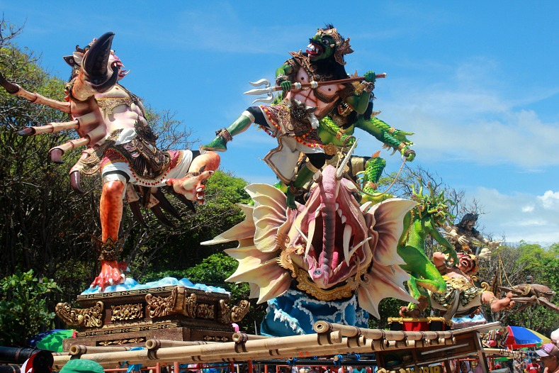Ogoh Ogoh statues, Kuta Beach, Bali, Indonesia
