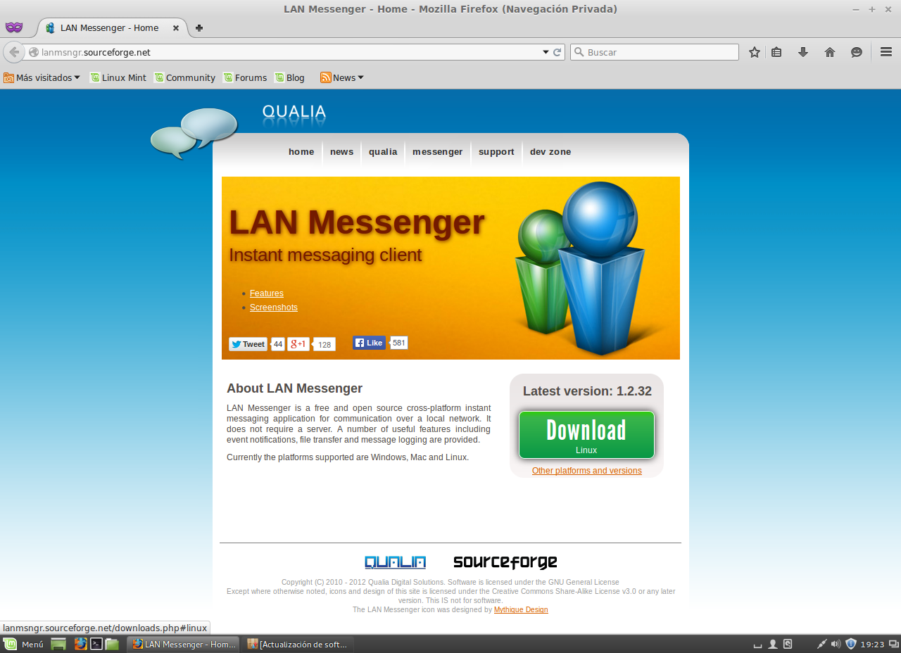 how to use lan messenger