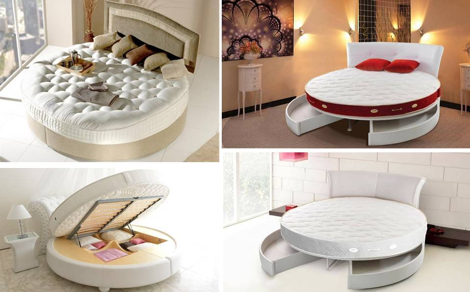 Creative round bed with drawers and storage ideas to spice - How can you spice up the bedroom ...