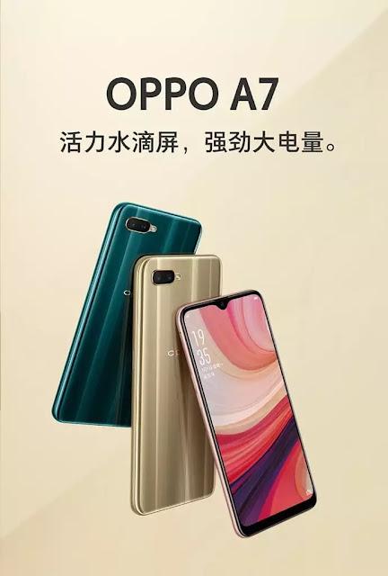 Spesifikasi dan harga Oppo A7