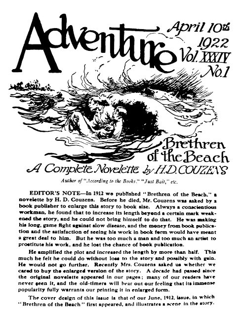 H.D Couzens - Brethren of the Beach - Adventure, April 10, 1922