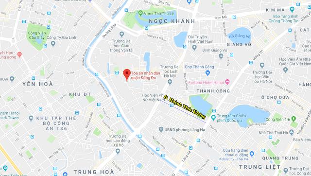 Vị trí quy hoạch mở rộng đường Hateco Huỳnh Thúc Kháng kéo dài