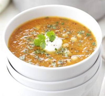 Red Lentil Chickpea & Chilli Soup