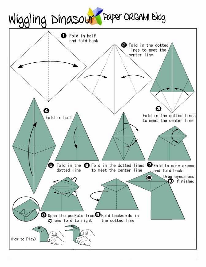 How To Make an Easy Origami Dinosaur | Paper Dinosaur Easy but ... | 869x672