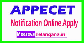 APPECET 2017 Notification Online Apply
