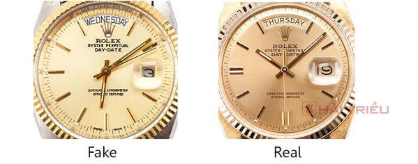 Cách phân biệt đồng hồ Rolex thật và giả (Fake)