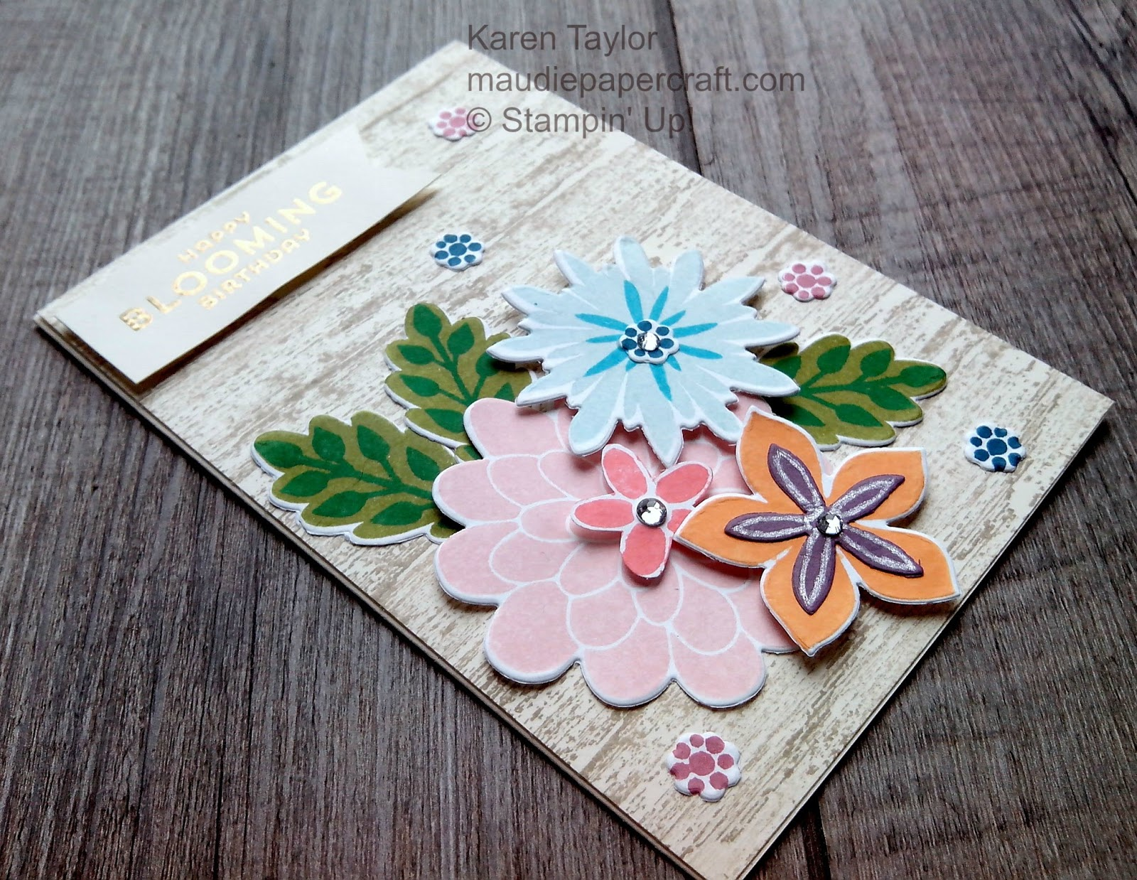 Mau Papercraft Stampin Up Flower Patch card