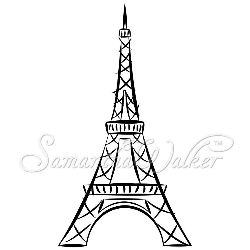 easy eiffel tower doodle -#main