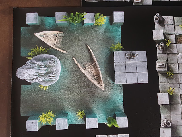 Custom Terrain: New Water Temple - Fantasy Wargame and Roleplaying Scenery Map
