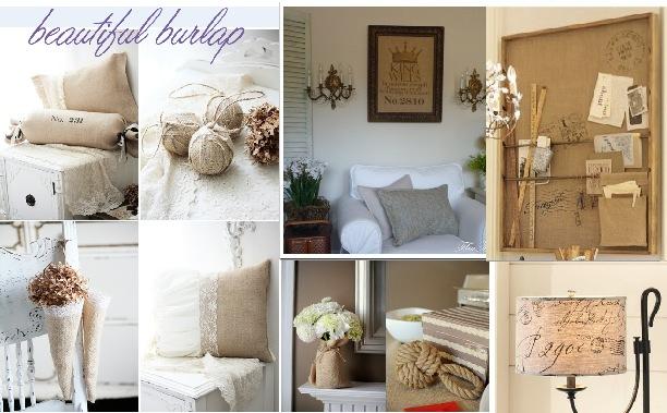 Using Burlap In Home Decor
