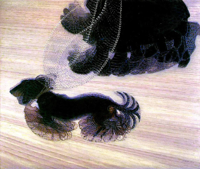Giacomo Balla painting of a walking dog