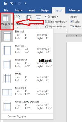 Cara Mengatur Margin Pada Microsot Word - Langkah 2