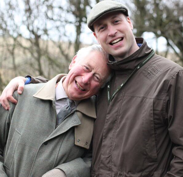 Clarence House released a photo of the Duke of Cambridge with his father to mark the day