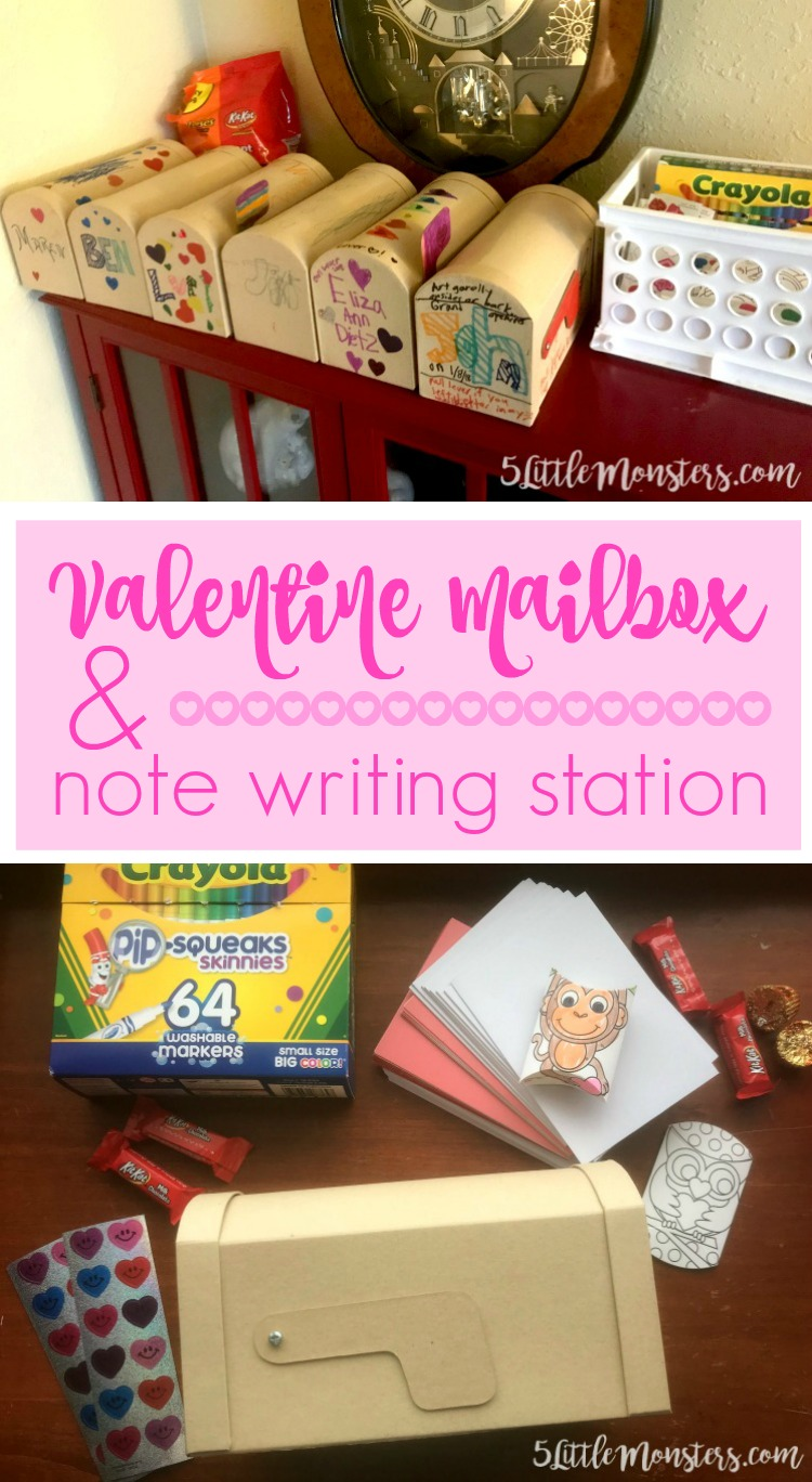5 Little Monsters Valentine Mailboxes And Note Writing Station