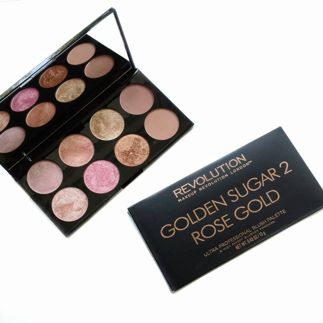Makeup Revolution Golden Sugar 2 Rose Gold Review Swatches Make Up Blush Palette Does Palettes That Just Contain But Funny Enough They Call Those Ultra Contour Even Though There Arent