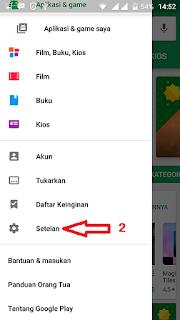 setelan untuk mematikan update otomatis