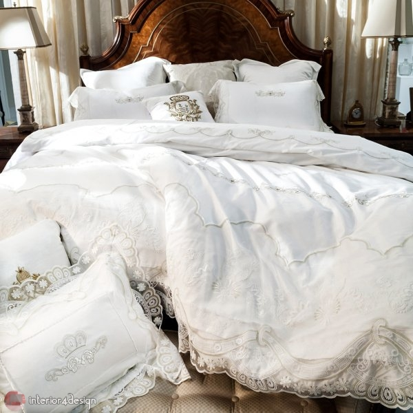 Modern Bed Embroidered Linens 2