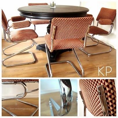 Venta de sillas vintage en valencia. Sillas de comedor años 70 estilo retro.