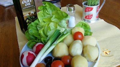 Salata de post - etapa 1