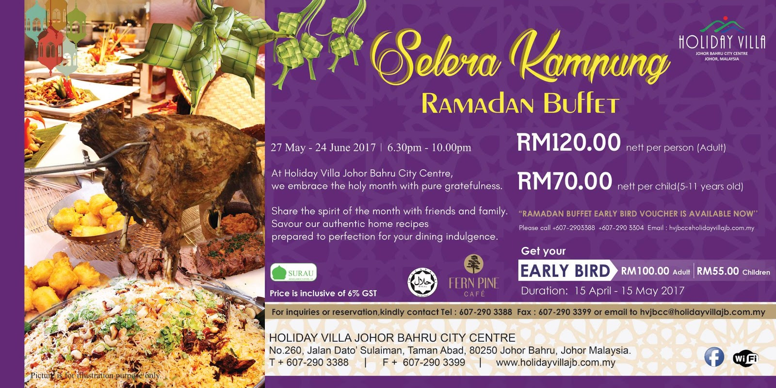 holiday villa jb buffet ramadhan