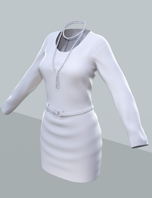 Knit Dress for Genesis 3 Female