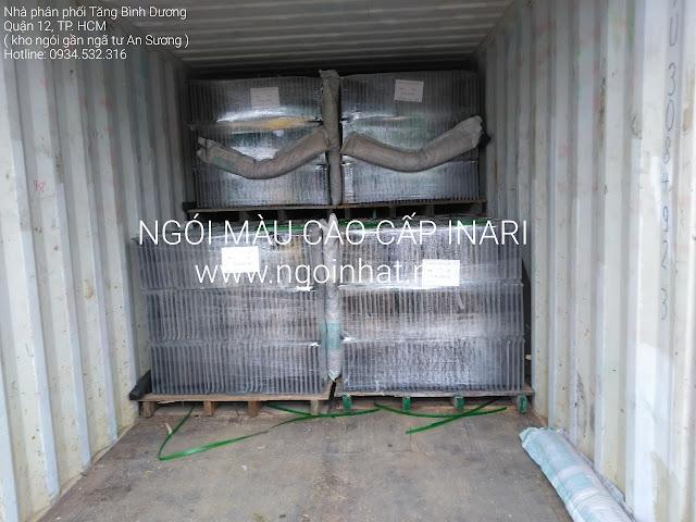Ngói Inari trên container tại Vicom Cà Mau