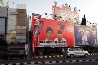 Lampung Dibanjiri Wajah Jokowi-Ma'ruf, Warga: Jokowi Disini Cuma Menang Baliho