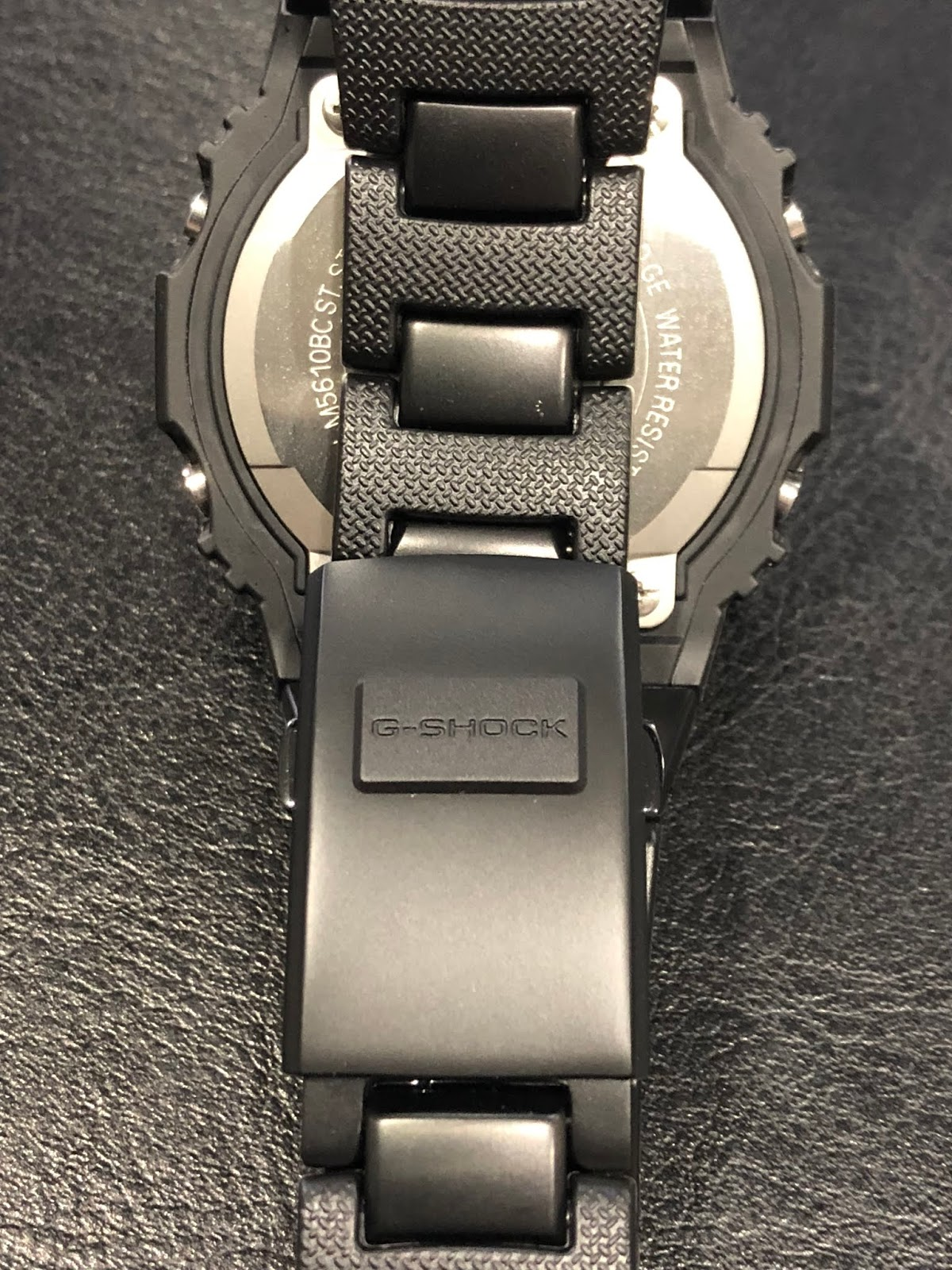 bfc902f92d906 It has four micro adjustment points for finer resizing. I especially like  the elevated G-Shock logo on the clasp surface.