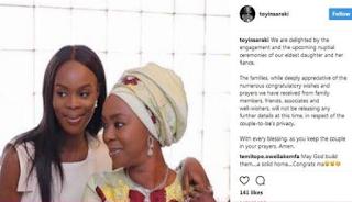 Senate President Bukola Saraki's eldest daughter set to wed