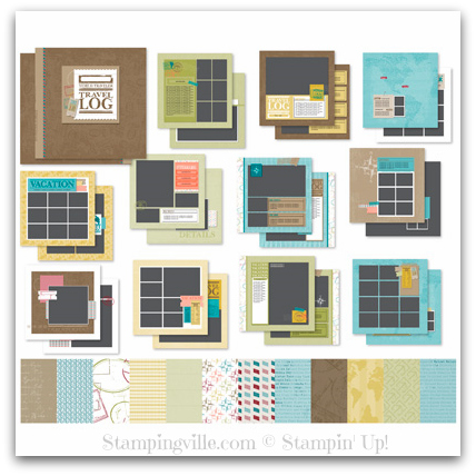 stampingville new stampin 39 up digital travel photobook. Black Bedroom Furniture Sets. Home Design Ideas