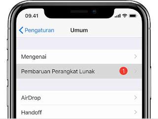 Cara update iphone, ipad dan ipod touch ke ios terbaru lewat OTA