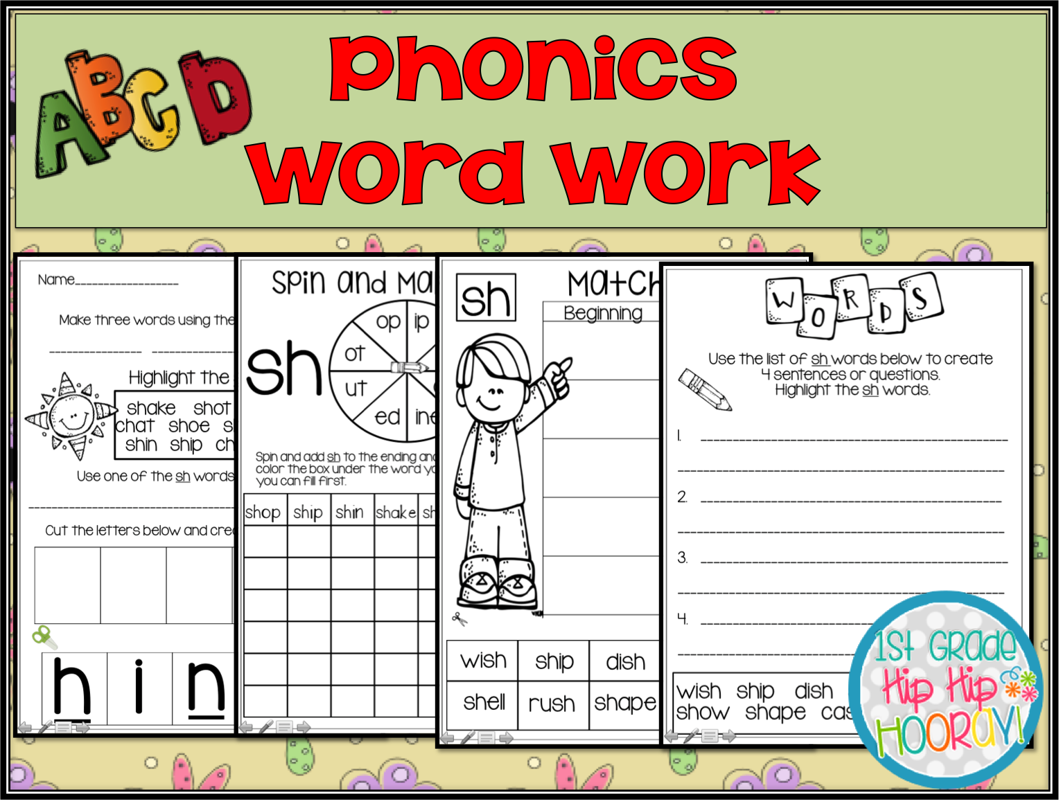 1st Grade Hip Hip Hooray Phonics Practice Blends Digraphs Vowel Teams And More
