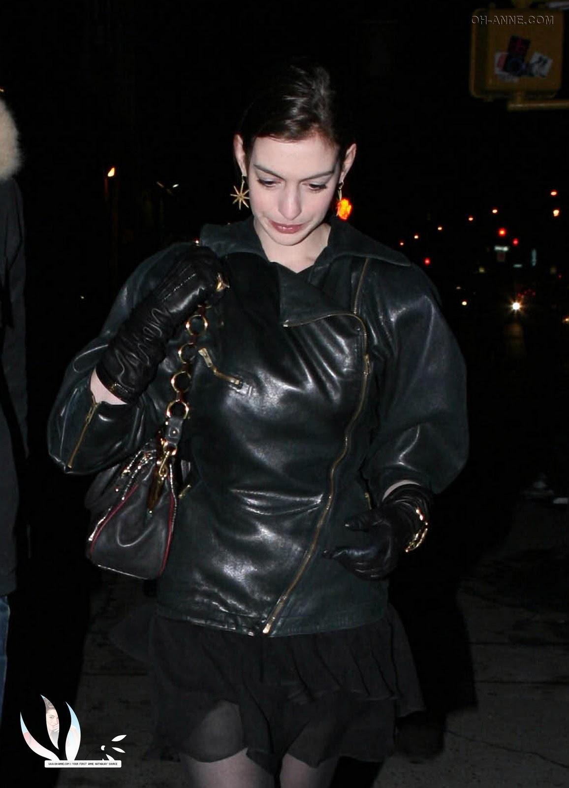 Leather jacket model