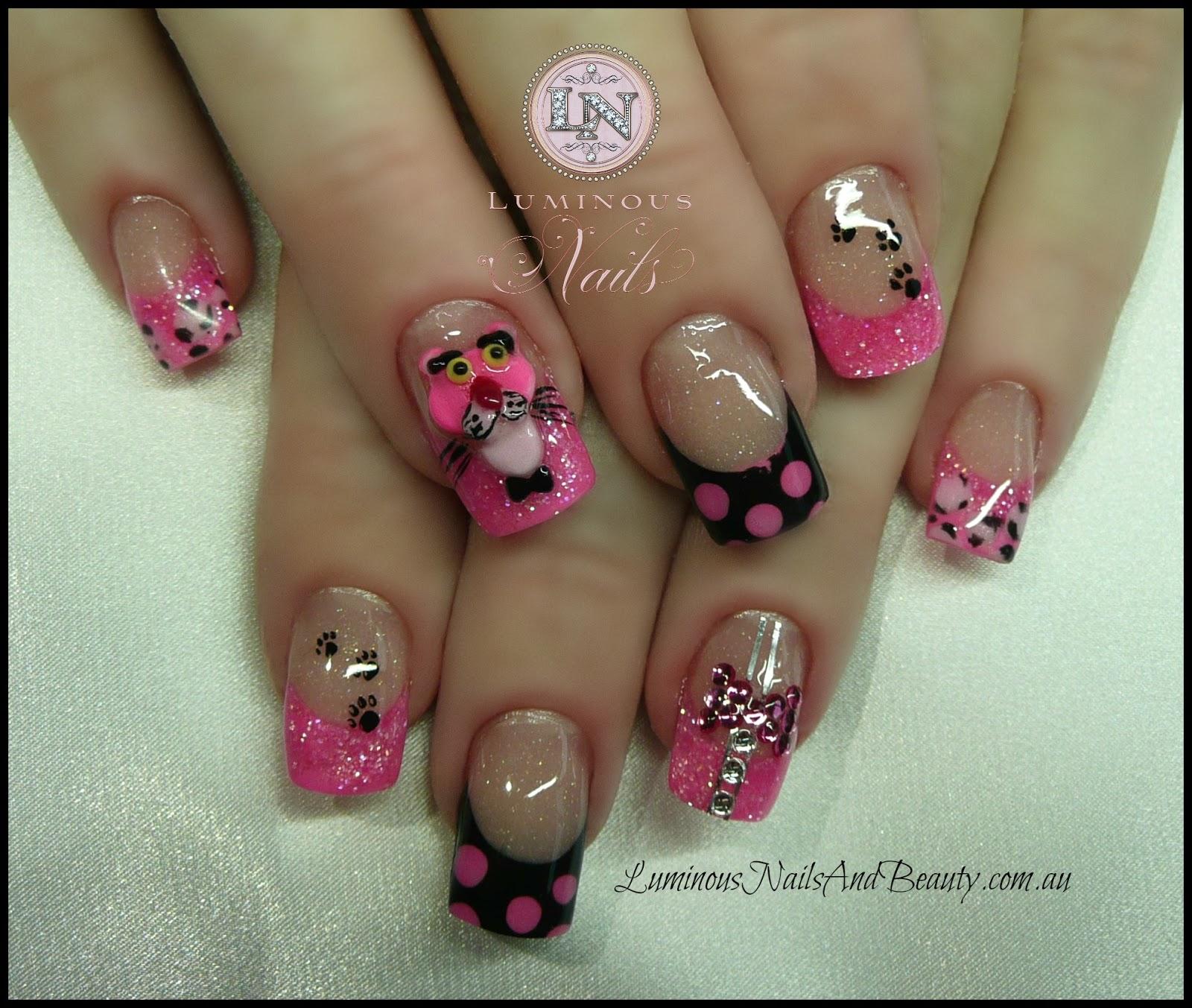 Pink Acrylic Nail Designs: Luminous Nails: October 2012