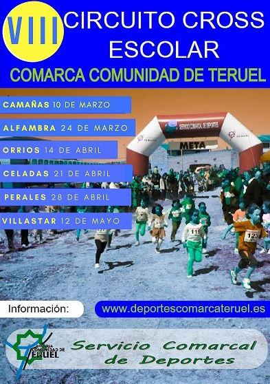VIII Circuito Cross Escolar Comarca Comunidad de Teruel