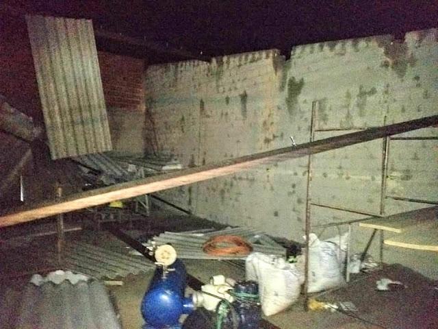 Em Pão de Açúcar, chuva e vento provocam danos materiais em residências da cidade