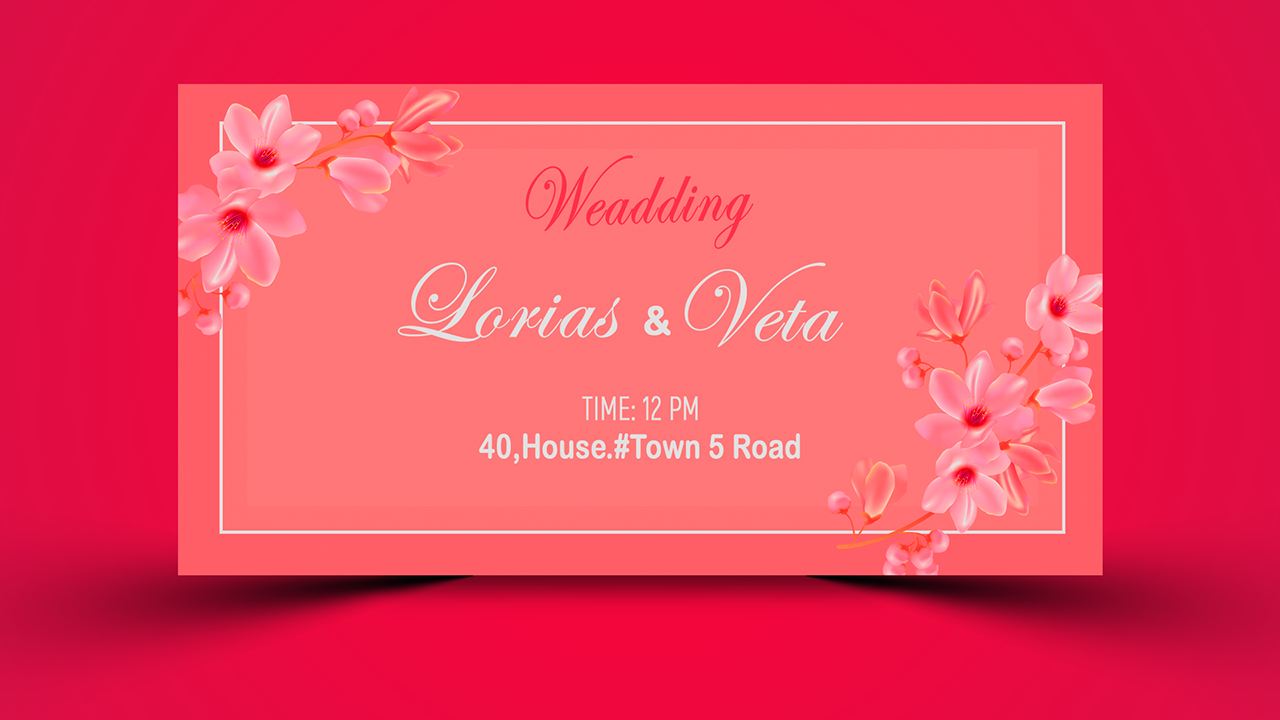 Wedding Invitation Card Photoshop Tutorial Grapocean