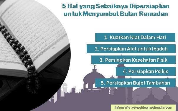 5 Hal yang Sebaiknya Dipersiapkan Untuk Menyambut Bulan Ramadan - Blog Mas Hendra