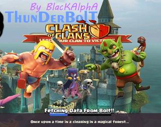 Clash of Clans Mod/Hack APK Thunderbolt Server Update Oktober 2015