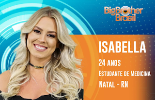 Perfil do Face da Isabella do BBB 19
