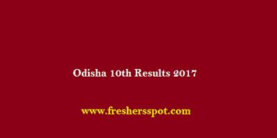 Odisha 10th Results 2017 Declared Soon
