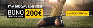 bwin bono bienvenida 100% 200 euros