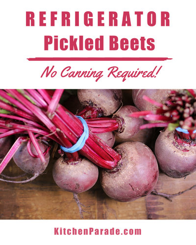 Refrigerator Pickled Beets ♥ KitchenParade.com, made with canned beets or fresh roasted beets, no canning required, keep for weeks in the fridge. Vegan. Low Sugar. Low Cal. Low Carb. Weight Watchers Friendly.