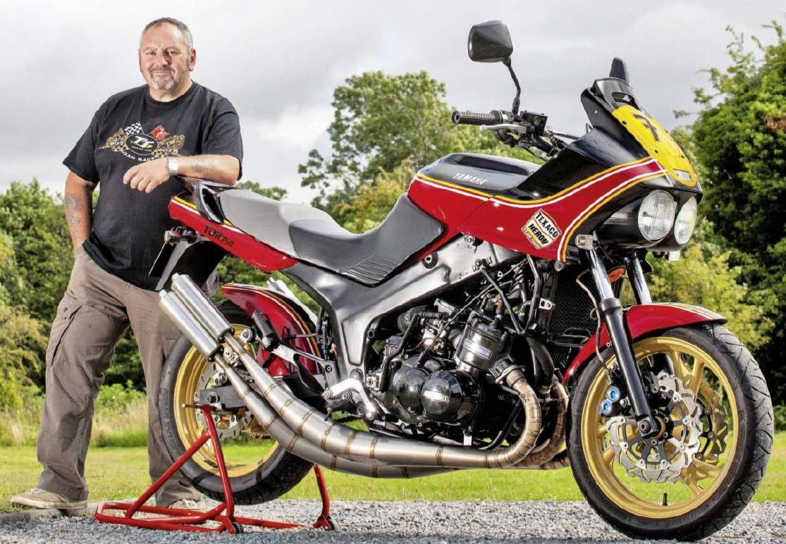 motorcycle modification: Custom Yamaha TDM850 with Suzuki ...