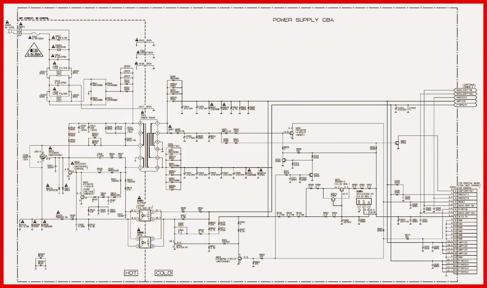 magnavox tv schematic diagrams wiring diagram used emerson and magnavox 39 inch lcd tv power supply [ 1600 x 946 Pixel ]