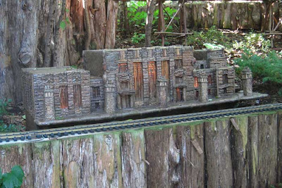 Model of the Durham Museum in natural materials