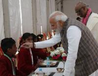 In Vrindavan, PM Modi Serves 3 Billionth Akshaya Patra Meal Today (11-02-2019)