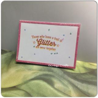 Glitter Stamp Card