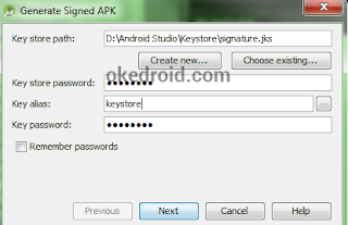Generated Signed Apk ,Belajar Cara Membuat file Apk di Android Studio