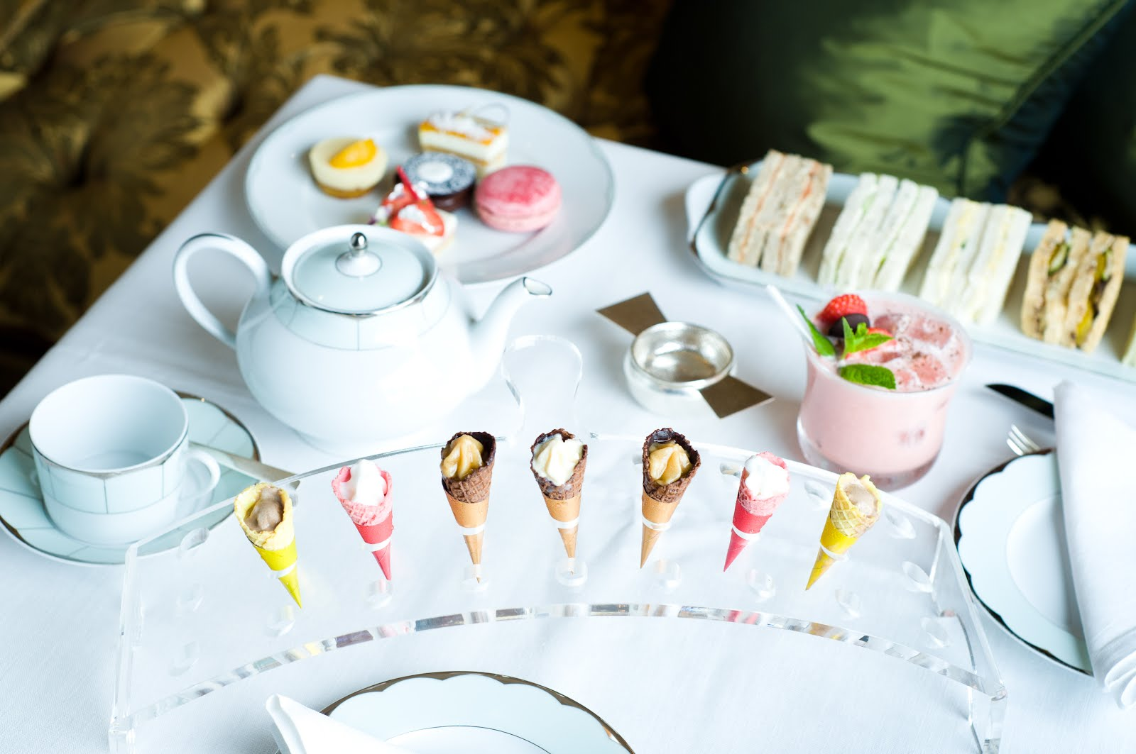 Luxury afternoon tea in London at the Dorchester